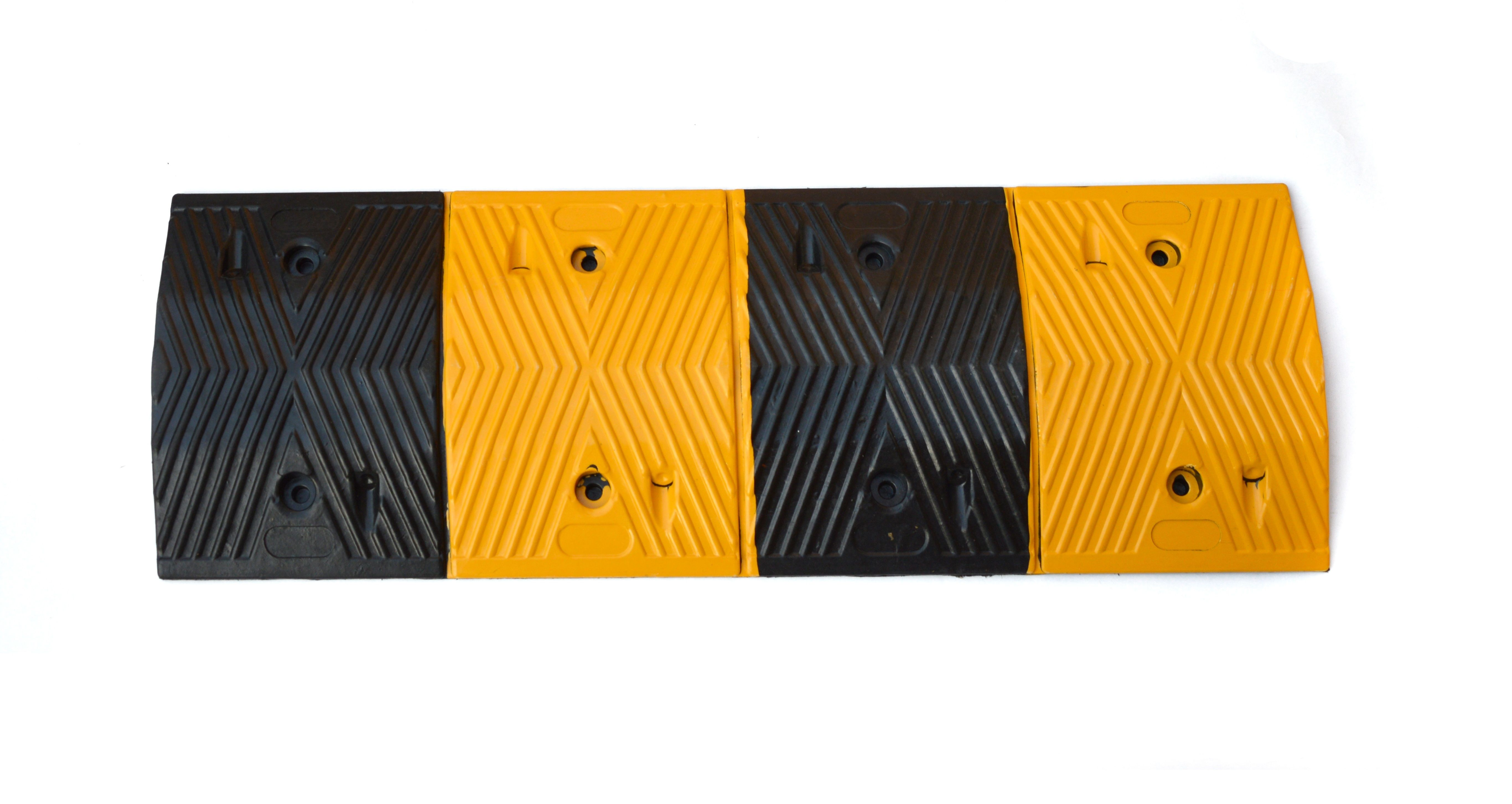 Pair of 1m Long 60T Load Rubber Speed Bump Hump Modular Speed Humps Road Hump 2