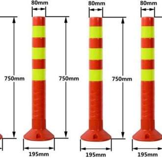 4x Plastic Traffic Bollard Barrier Post Crowd Control Safety 1