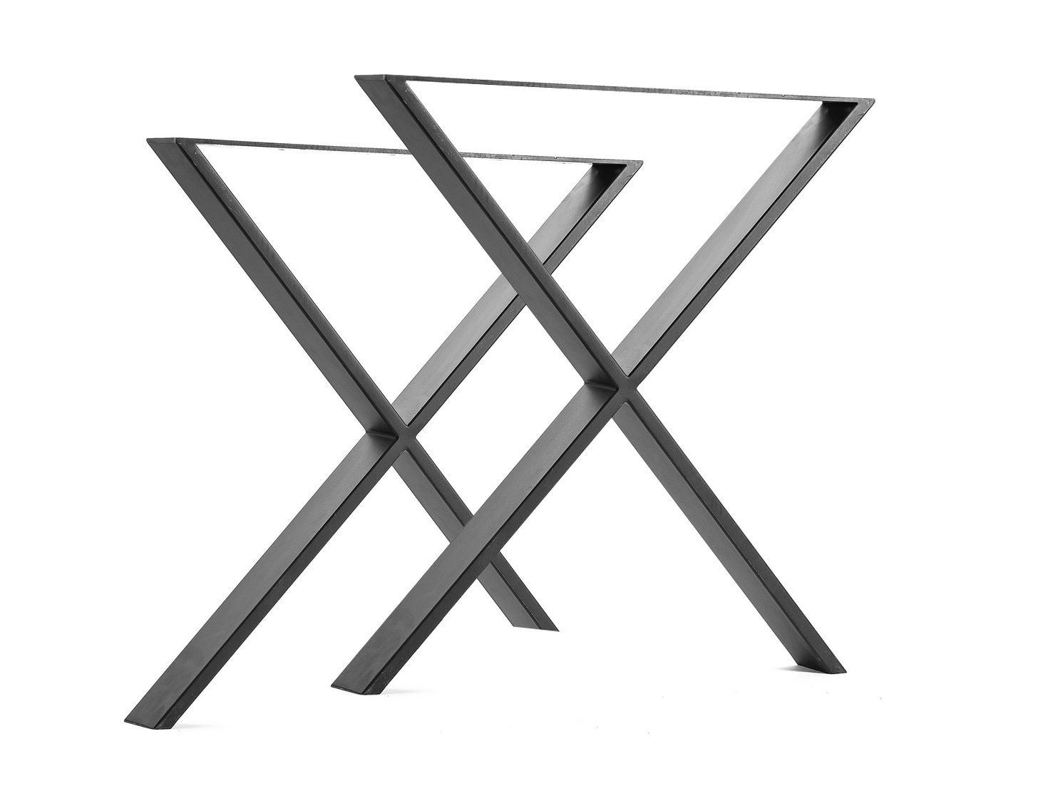 X Shaped Table Bench Desk Legs Retro Industrial Design Fully Welded 2