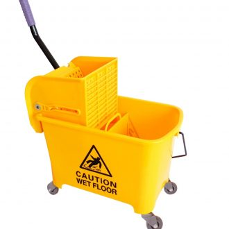 20L Deluxe Mop Wringer Bucket Side Press Janitor Commercial Cleaning 1