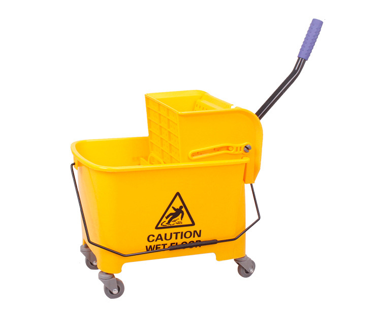 20L Deluxe Mop Wringer Bucket Side Press Janitor Commercial Cleaning 2