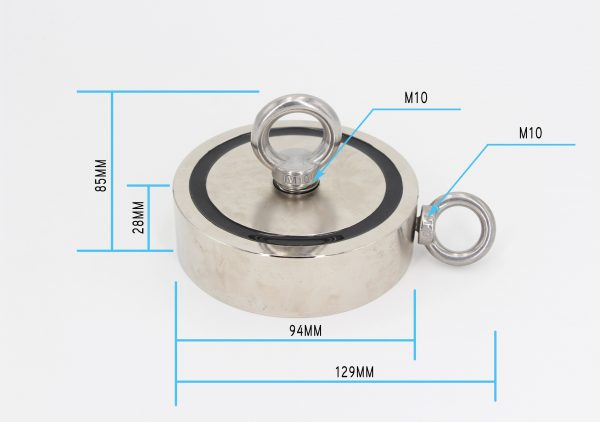 700Kg Salvage Strong Recovery Magnet Neodymium Hook Treasure Hunting Fishing 5