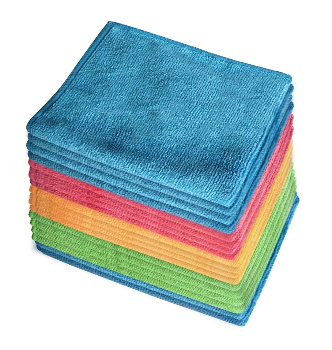 18x Microfibre Cleaning Cloth Microfiber Dish Car Gym Towel Glass 210GSM 40x30cm 1
