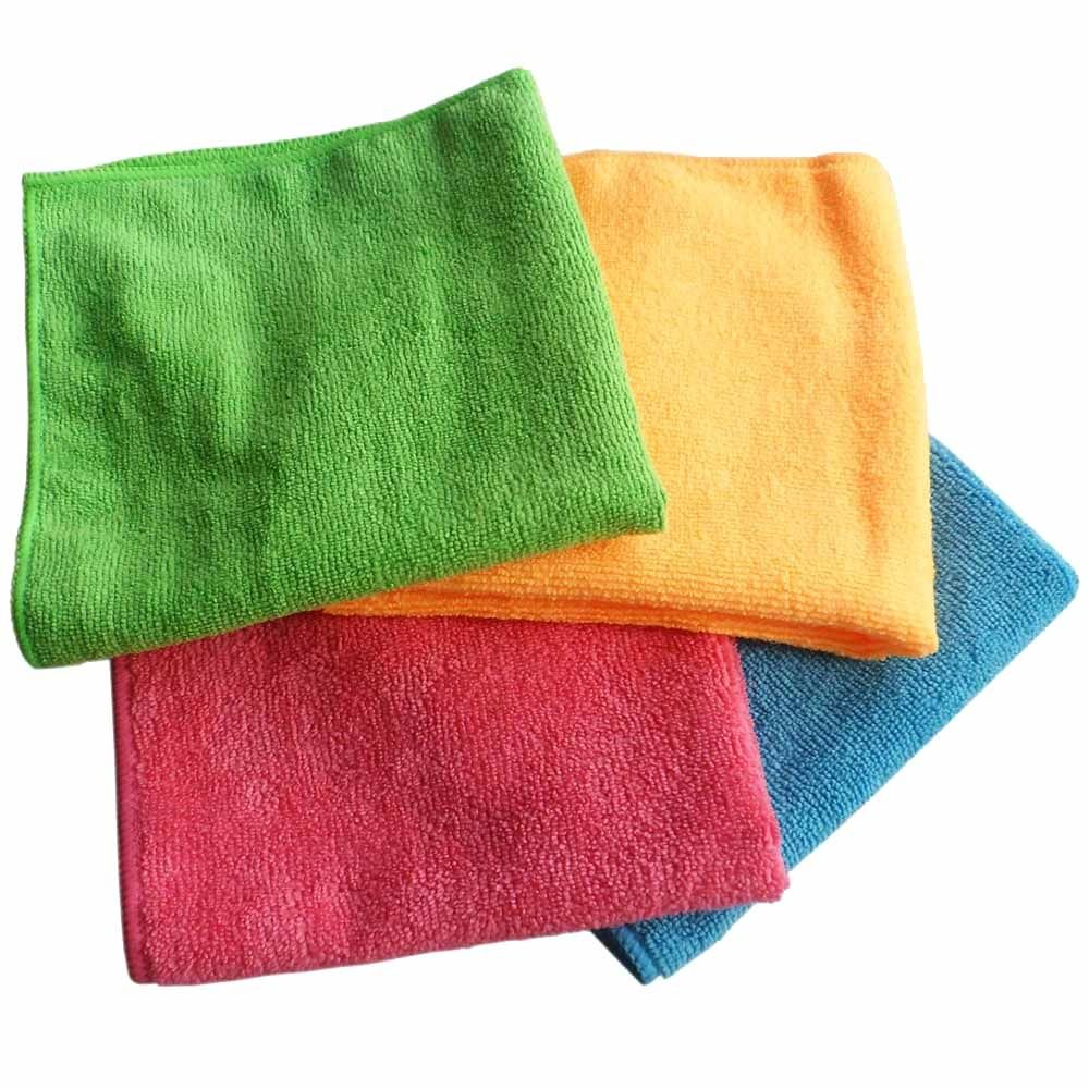 18x Microfibre Cleaning Cloth Microfiber Dish Car Gym Towel Glass 210GSM 40x30cm 3