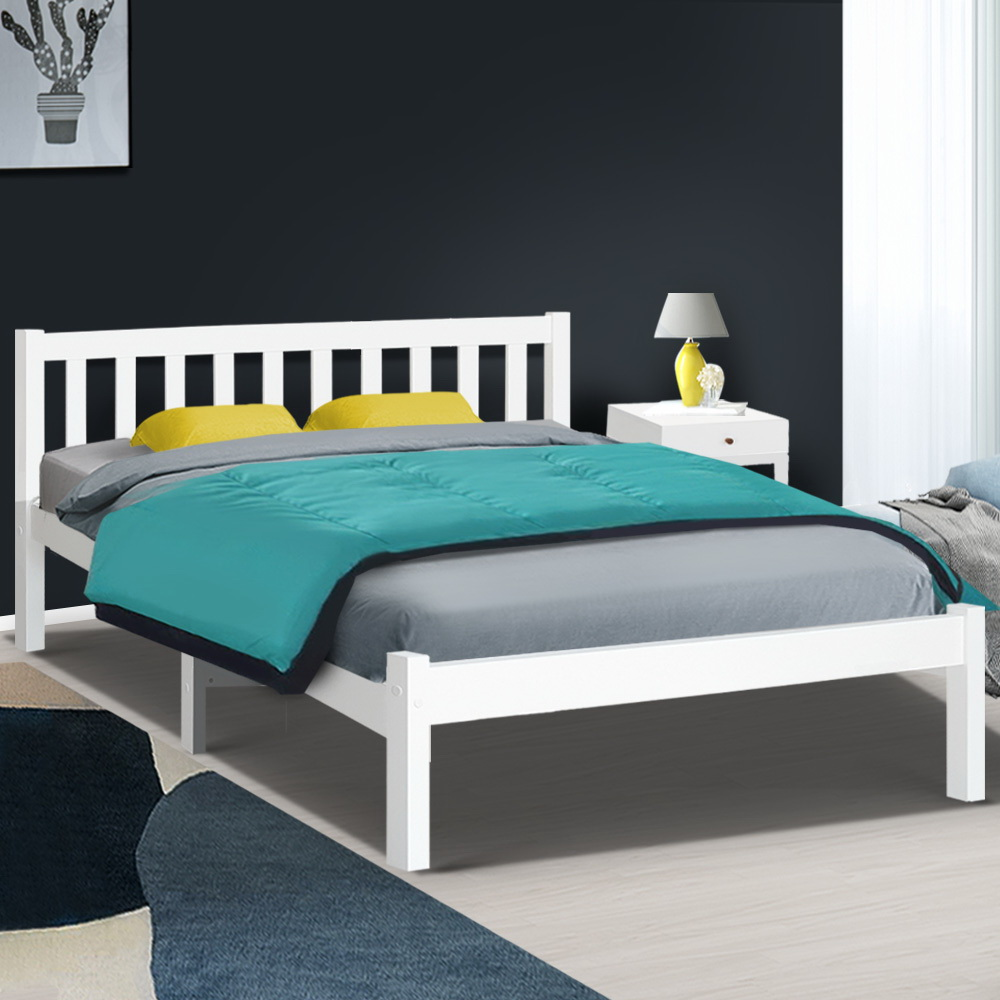 Artiss Double Full Size Wooden Bed Frame SOFIE Pine Timber Mattress Base Bedroom 7