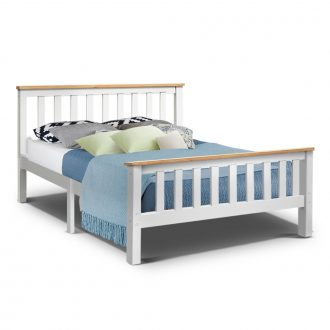 Artiss Double Full Size Wooden Bed Frame PONY Timber Mattress Base Bedroom Kids 1
