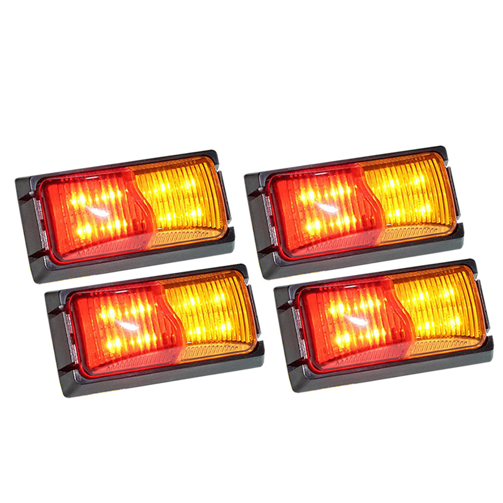 4X LIGHTFOX LED Side Marker Amber RED Indicator Trailer Clearance Lights 1
