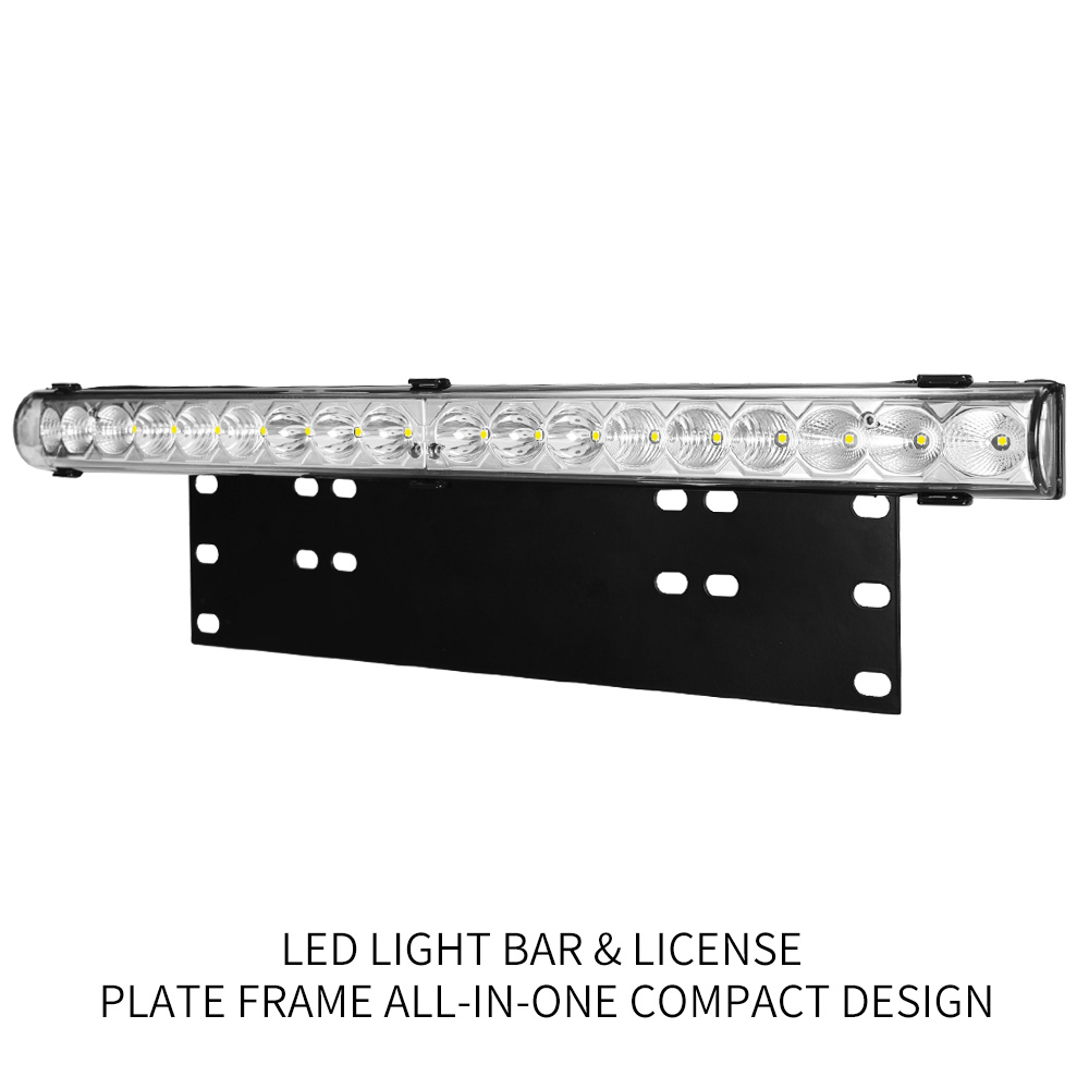 20inch LED Light Bar & Number Plate Frame Integrated 4WD Car Truck Universal fit 4