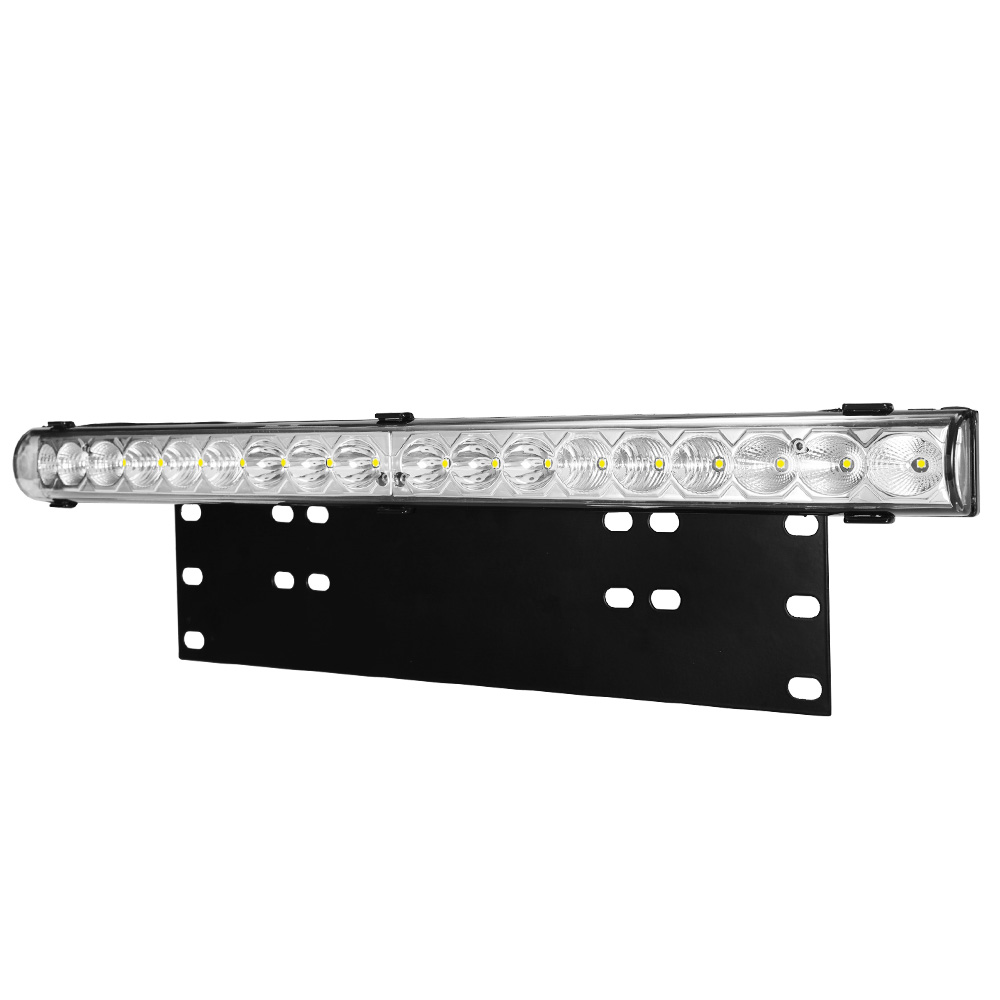 20inch LED Light Bar & Number Plate Frame Integrated 4WD Car Truck Universal fit 1
