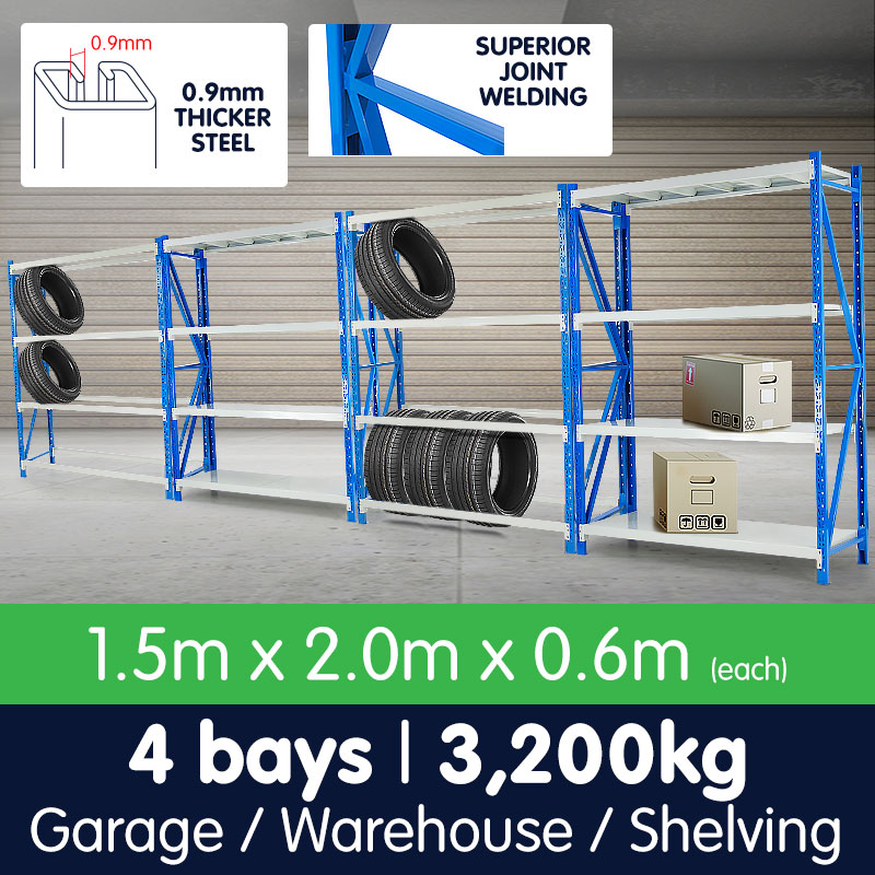 4 Bay Garage Storage Steel Rack Shelving 6