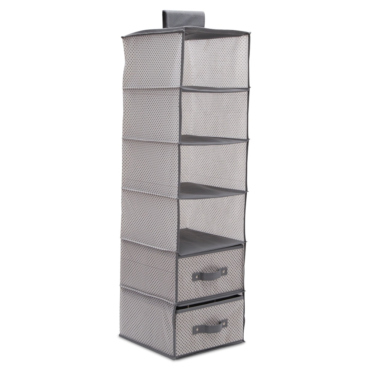 6 Shelf Storage with 2 Drawers - Cool Grey