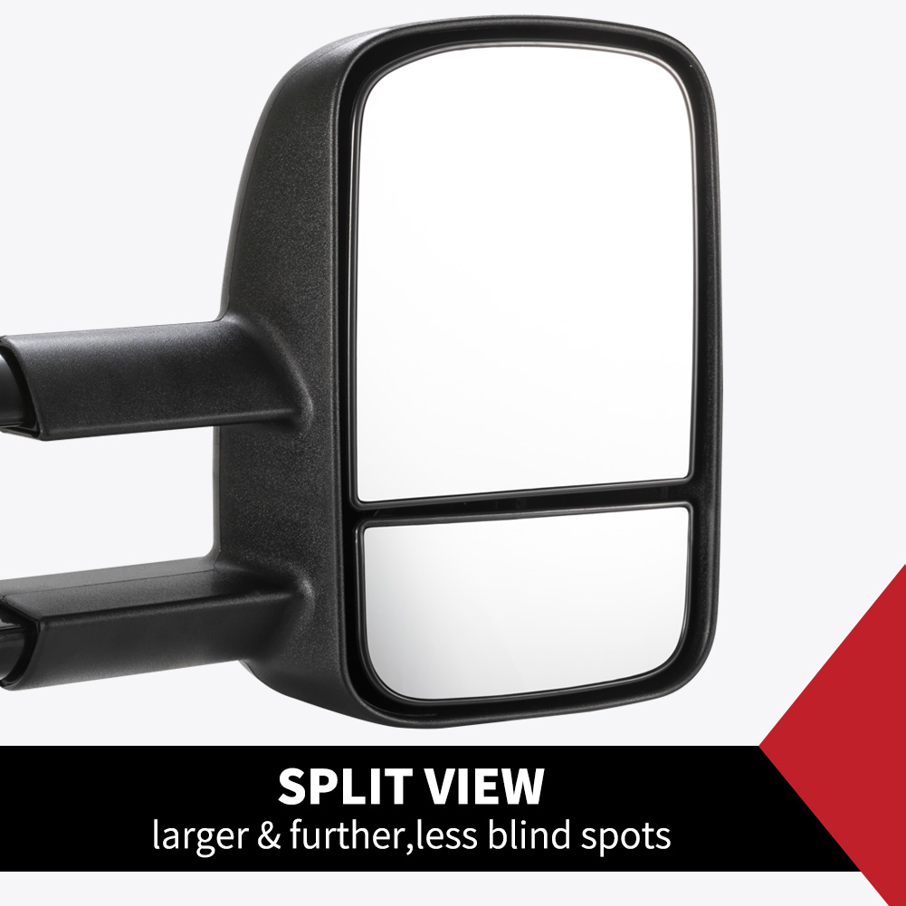 Pair Extendable Towing Mirrors Fit Toyota HILUX 2005-2015 2