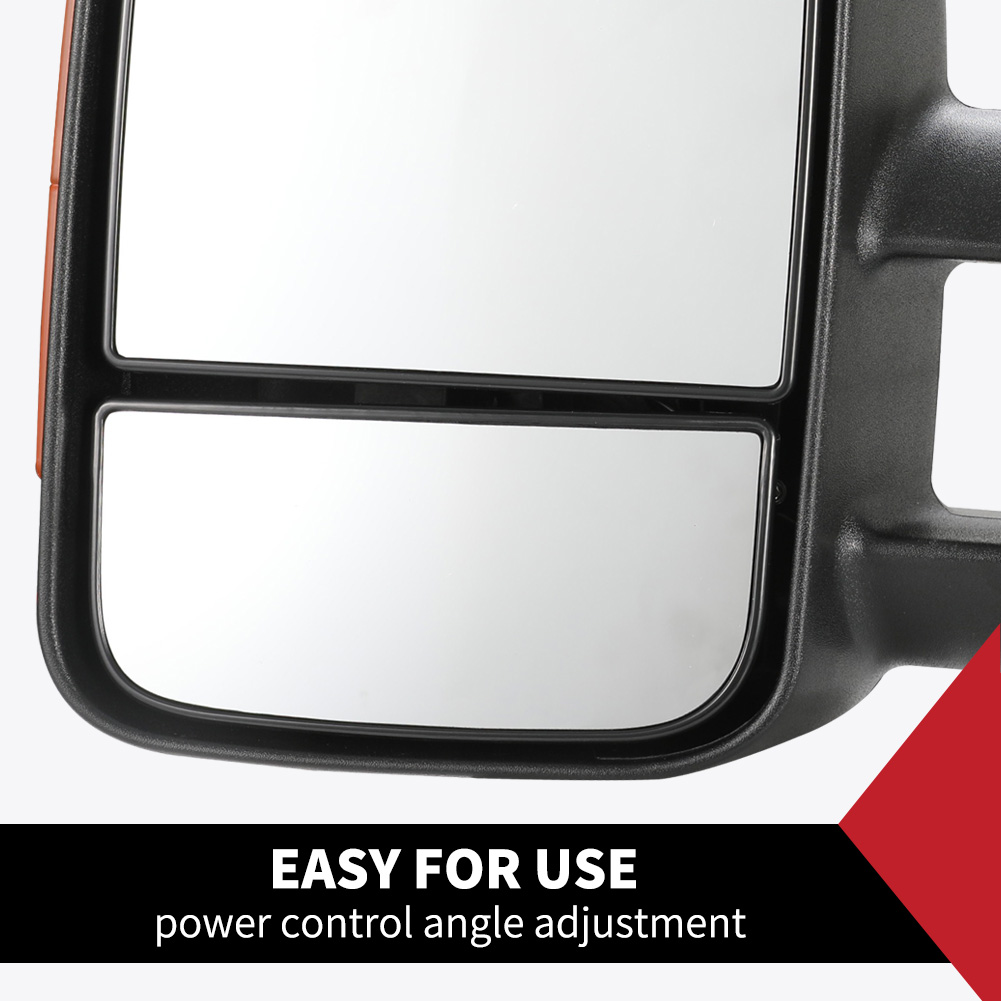 Pair Extendable Towing Mirrors Fit Toyota HILUX 2005-2015 3