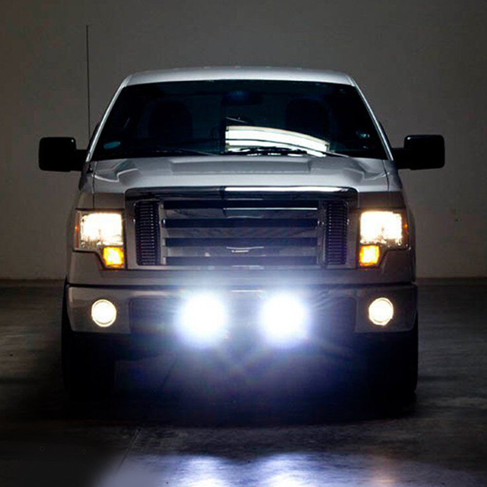 2X 7inch 5D Square LED Driving Light Bar Spot Flood Combo Offroad Boat Truck SUV 5